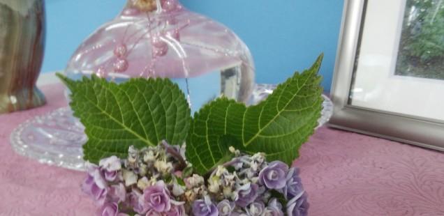 紫陽花が・・。